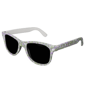 Purple and White Crocuses Sunglasses