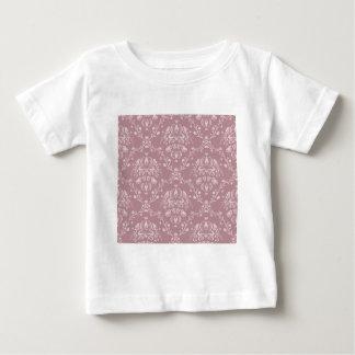 Purple and White Damask Baby T-Shirt