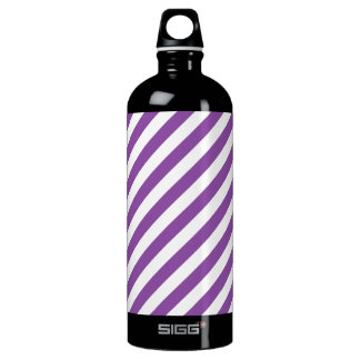 Purple And White Diagonal Stripes Pattern