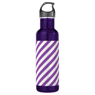 Purple And White Diagonal Stripes Pattern
