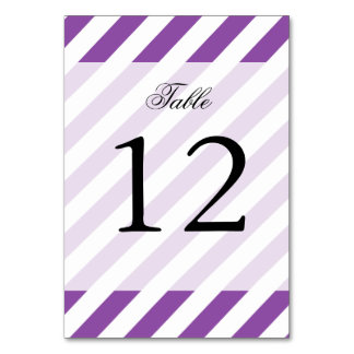 Purple And White Diagonal Stripes Pattern Card