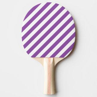 Purple And White Diagonal Stripes Pattern Ping Pong Paddle