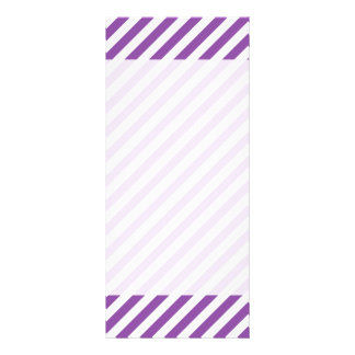 Purple And White Diagonal Stripes Pattern Rack Card