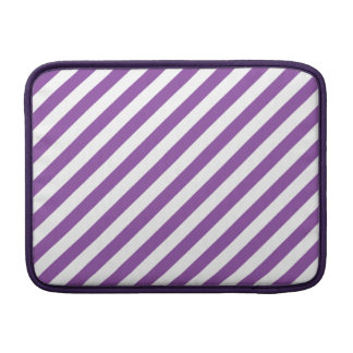 Purple And White Diagonal Stripes Pattern Sleeve For MacBook Air