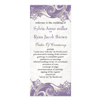 Purple and White Floral Spring Wedding Rack Card