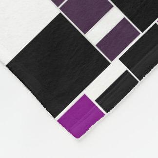 Purple And White Geometrical Pattern Fleece Blanket
