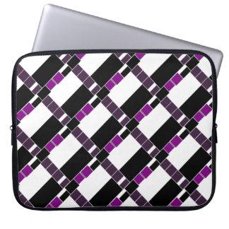 Purple And White Geometrical Pattern Laptop Sleeve