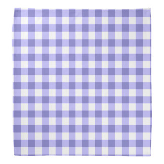 Purple And White Gingham Check Pattern Bandanna