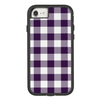 Purple and White Gingham Plaid Case-Mate Tough Extreme iPhone 8/7 Case