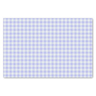 Purple and white Gingham plaid Tissue Paper