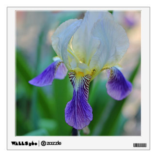 Purple and White Iris Wall Decal