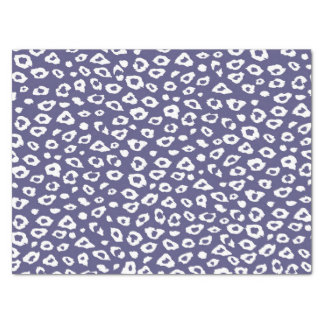"Purple and White Leopard Print 15"" X 20"" Tissue Paper"