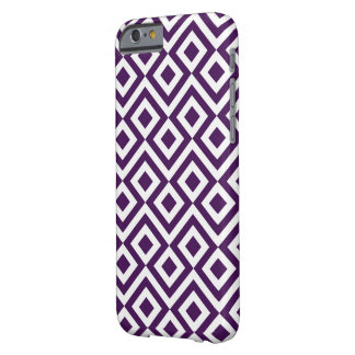 Purple and White Meander Barely There iPhone 6 Case