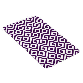 Purple and White Meander Flexible Magnets