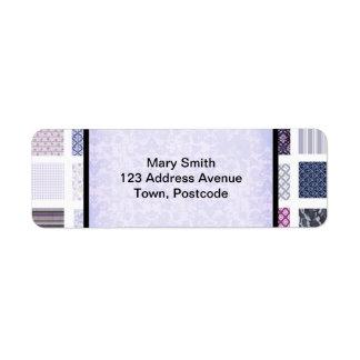 Purple and white mosaic