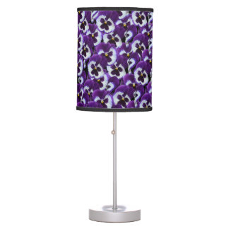 Purple And White Pansies, Table Lamp