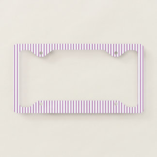 Purple and White Pinstripe License Plate Frame