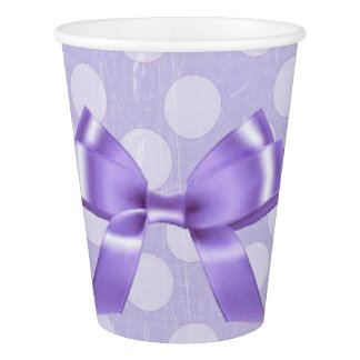 Purple and White Polka Dot Party Paper Cups Paper Cup