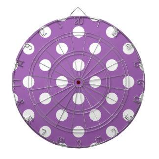 Purple And White Polka Dot Pattern Dartboard