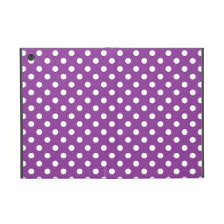 Purple and White Polka Dot Pattern iPad Mini Cases