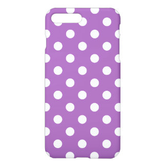 Purple And White Polka Dot Pattern iPhone 7 Plus Case