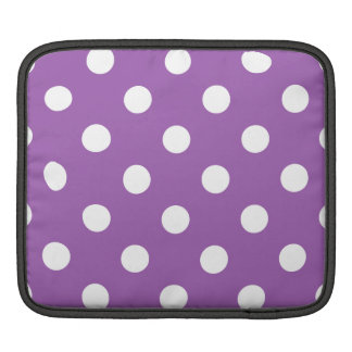 Purple And White Polka Dot Pattern Sleeves For iPads