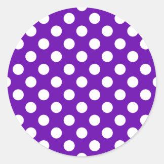 Purple and White Polka Dot Sticker