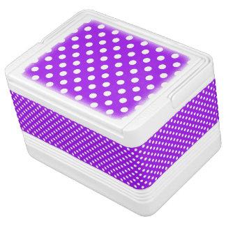 Purple and White Polka Dots