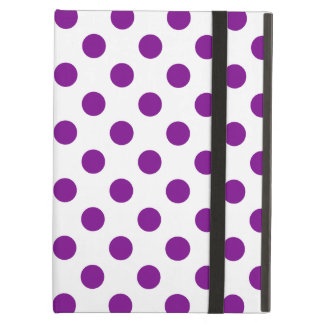 Purple and white polka dots cover for iPad air