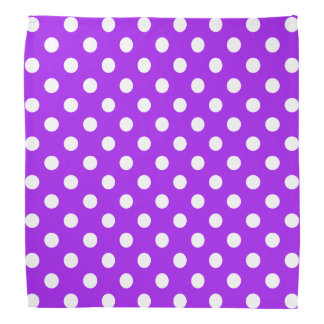 Purple and White Polka Dots Head Kerchiefs