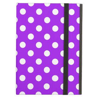 Purple and White Polka Dots iPad Air Cover