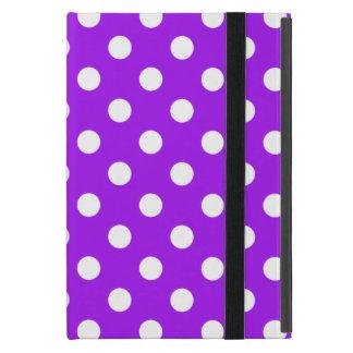 Purple and White Polka Dots iPad Mini Cases