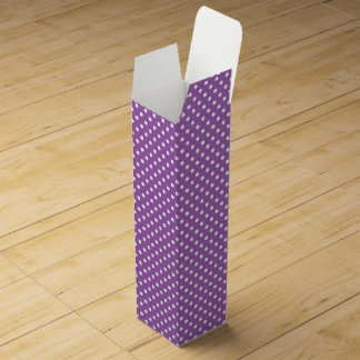 Purple and White Polka Dots Pattern Wine Bottle Box