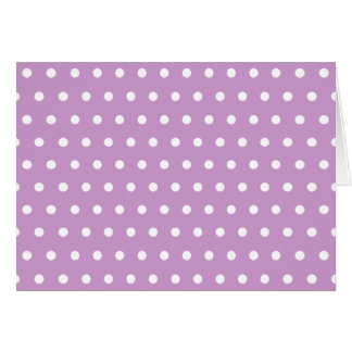Purple and White Polka Dots Thank You Card