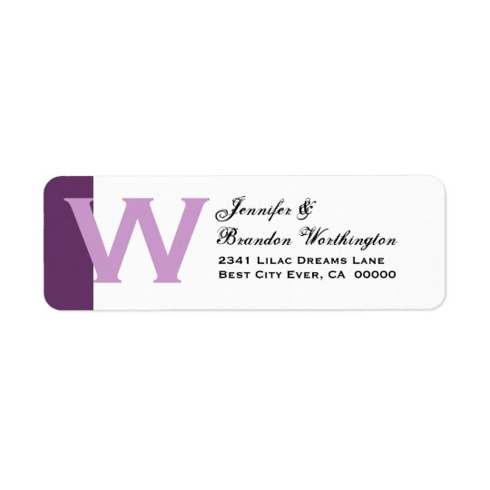 Purple and White - Simple and Elegant Personalized