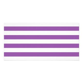 Purple and White Stripe Pattern Card