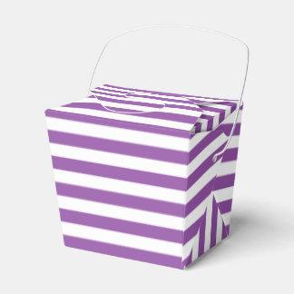 Purple and White Stripe Pattern Favor Box