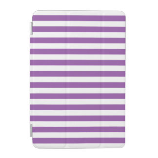 Purple and White Stripe Pattern iPad Mini Cover