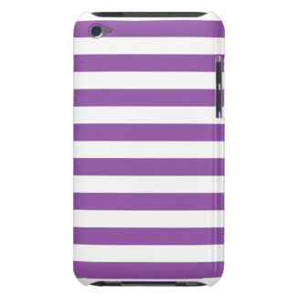 Purple and White Stripe Pattern iPod Case-Mate Cases