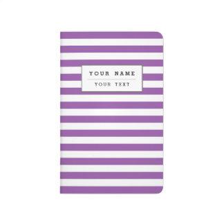 Purple and White Stripe Pattern Journal