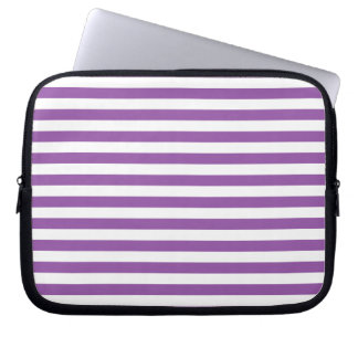 Purple and White Stripe Pattern Laptop Sleeve