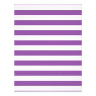 Purple and White Stripe Pattern Letterhead