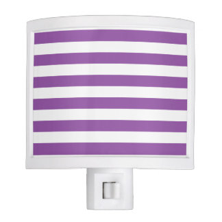 Purple and White Stripe Pattern Night Lites