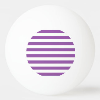 Purple and White Stripe Pattern Ping Pong Ball