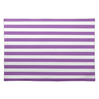 Purple and White Stripe Pattern Placemat