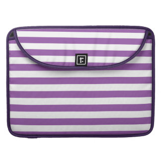 Purple and White Stripe Pattern Sleeve For MacBooks