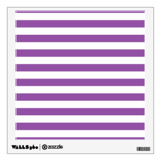 Purple and White Stripe Pattern Wall Decal