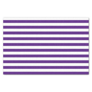 Purple and White Stripes Tissue Paper