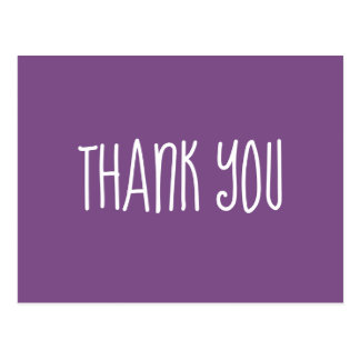 Purple and White Thank You Postcard