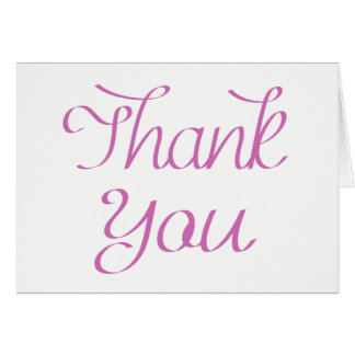 Purple and White Thank You  - Wedding, Party Card
